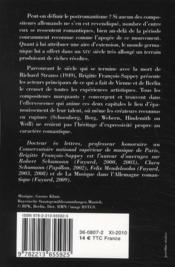 De Brahms à Mahler et Strauss ; le postromantisme musical - 4ème de couverture - Format classique