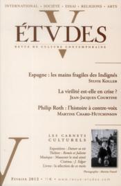 Revue Etudes ; Février 2012 - Couverture - Format classique