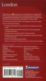 GUIDE ROUGE ; London ; restaurants & hotels (édition 2012) - 4ème de couverture - Format classique