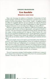 Harkis ; mémoires sans issue - 4ème de couverture - Format classique