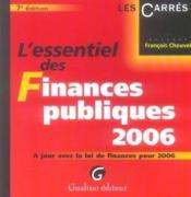 Essentiel des finances publiques 2006 7 ed. (l') (7e édition) - Couverture - Format classique