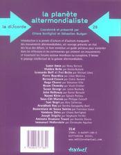 La planete altermondialiste - 4ème de couverture - Format classique
