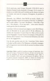 Georges Moustaki ; une vie - 4ème de couverture - Format classique
