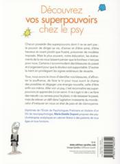 Découvrez vos superpouvoirs chez le psy - 4ème de couverture - Format classique