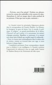 Le gueuloir ; perles de correspondances - 4ème de couverture - Format classique