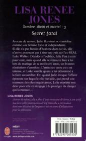 Sombre, divin et mortel t.3 ; secret fatal - 4ème de couverture - Format classique