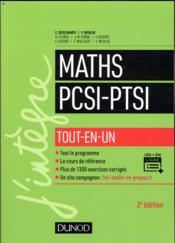 Mathématiques tout-en-un PCSI-PTSI (2e édition) - Couverture - Format classique