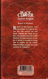 Black Clover - quartet knights T.2 - 4ème de couverture - Format classique