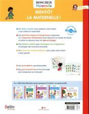 Bientot la maternelle ! - 4ème de couverture - Format classique