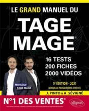 Le grand manuel du Tage Mage n 1 des ventes 16 tests blancs + 200 fiches de cours + 2000 vidéos (édition 2021) - Couverture - Format classique
