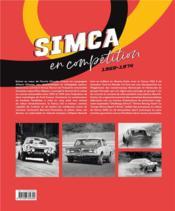 Simca en compétition (1969-1974) - 4ème de couverture - Format classique