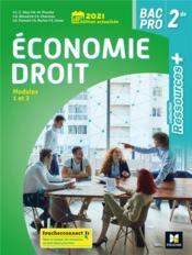 RESSOURCES + ; économie-droit ; 2de bac pro ; livre de l'élève (édition 2021) - Couverture - Format classique