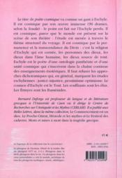 Eschyle, poète cosmique - 4ème de couverture - Format classique