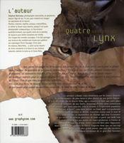 Les 4 saisons du lynx - 4ème de couverture - Format classique