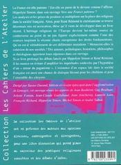 Cahiers de l'atelier ; la France est-elle païenne ? - 4ème de couverture - Format classique