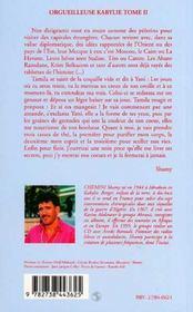 Orgueilleuse Kabylie T.2 ; L'Amour Et L'Espoir - 4ème de couverture - Format classique