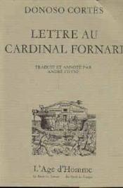 Lettre Au Cardinal Fornari - Couverture - Format classique