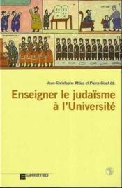 Enseigner le judaisme a l'universite - Couverture - Format classique