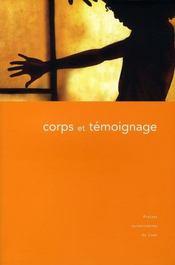 Corps et témoignage - Intérieur - Format classique