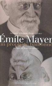 Emile mayer un prophete baillonne - Couverture - Format classique