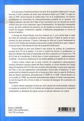 L'action extérieure de la c.e. en matière de droits de propriete intellectuelle - 4ème de couverture - Format classique