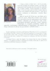 Lang A Fanm. Ou Ce Que Ditle Creole Des Femmes ! - 4ème de couverture - Format classique