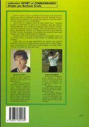Le Golf - 4ème de couverture - Format classique