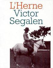 Cahier Victor Segalen t.71 - Couverture - Format classique