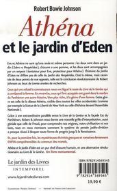 Athéna et le jardin d'eden - 4ème de couverture - Format classique