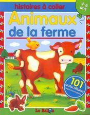Histoires A Coller : Animaux De La Ferme - Intérieur - Format classique