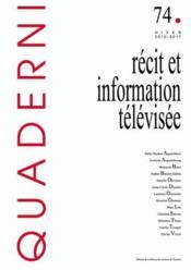 Recit Et Information Televisee - Couverture - Format classique