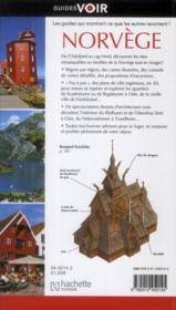 GUIDES VOIR ; Norvège (édition 2012) - 4ème de couverture - Format classique