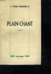 Plain Chant. - Couverture - Format classique