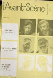 L'AVANT-SCENE - FEMINA-THEATRE N° 222 - LETTRE MORTE de ROBERT PINGET - Couverture - Format classique
