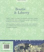 Boutis & liberty - 4ème de couverture - Format classique