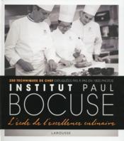 Institut Bocuse ; à l'école des chefs - Couverture - Format classique