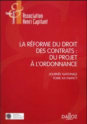 La réforme du droit des contrats ; appréciation critique - Couverture - Format classique