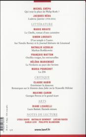La Nouvelle Revue Francaise N.618 - 4ème de couverture - Format classique