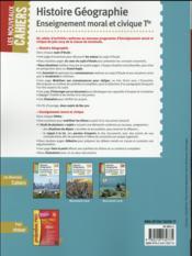 Les nouveaux cahiers ; histoire-géographie-EMC ; terminale BAC pro - 4ème de couverture - Format classique