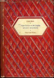 3 Letters On The English - Couverture - Format classique