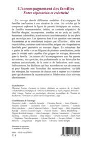 L'accompagnement des familles ; entre réparation et créativité - 4ème de couverture - Format classique