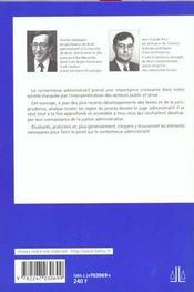 Contentieux Administratif - 4ème de couverture - Format classique