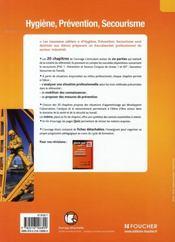 Les Nouveaux Cahiers ; Hygiène, Prévention, Secourisme ; Bac Pro Industriels ; Livre Pochette - 4ème de couverture - Format classique