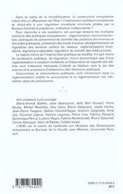 Politiques Publiques Europeenes - 4ème de couverture - Format classique