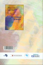 Art Et L'Urgence Des Possible - 4ème de couverture - Format classique