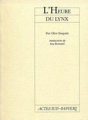 L'heure du lynx - Intérieur - Format classique