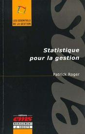 Statistique pour gestion - Intérieur - Format classique