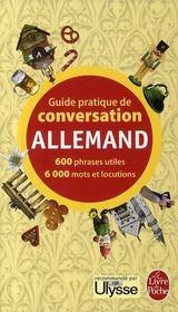 Guide pratique de conversation allemand - Couverture - Format classique