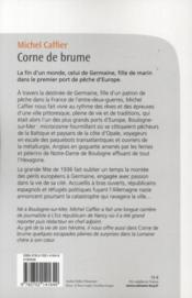 Corne de brume - 4ème de couverture - Format classique