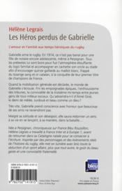Les héros perdus de Gabrielle - 4ème de couverture - Format classique